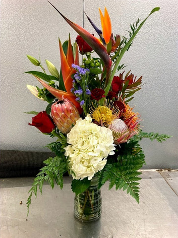 Mixed Sping with Tropical Arrangement