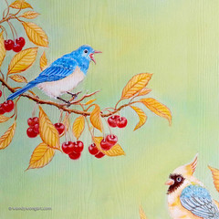 Cherries & Birds