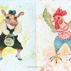 Cow & Rooster