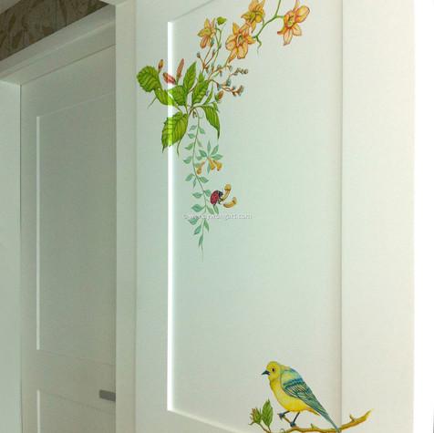 Flowers & Birds Motif