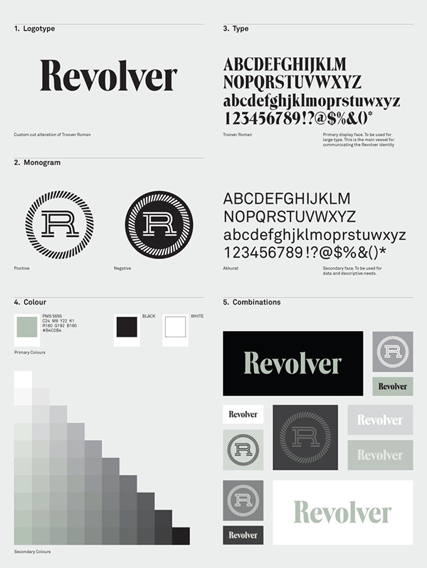 Brand Guide One Page Style Outline Font Logotype Color