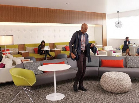 Relax in the American Express Lounges