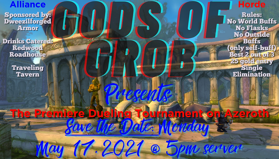 gods of grob save the date at dm silver.