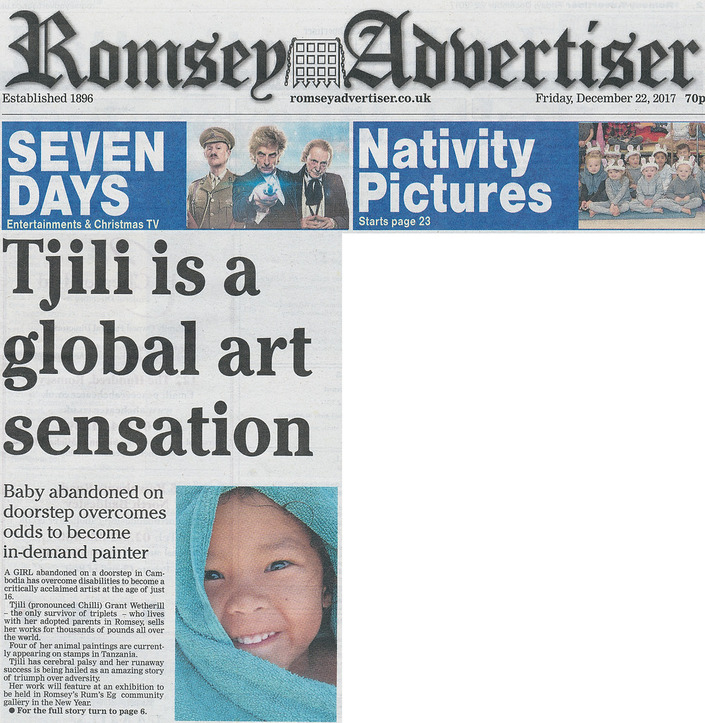 Romsey Advertiser (Front Page), 22 Dec 2017