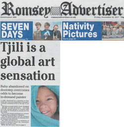 ROMSEY ADVERTISER ARTICLE:  Tjili is a global art sensation
