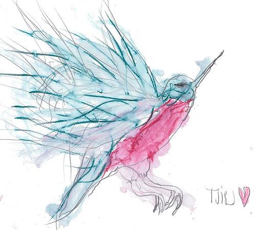 Bird. Humming.