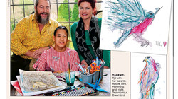 MAIL ON SUNDAY ARTICLE:  Artistic triumph of the cerebral palsy girl who was dumped on a hospital do