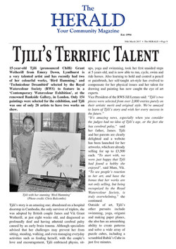 THE HERALD ARTICLE:  Tjili's Terrific Talent