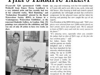 THE HERALD ARTICLE:  Tjili's Terrific Talent
