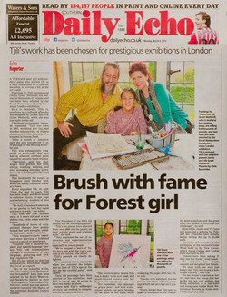 SOUTHERN DAILY ECHO ARTICLE:  Brush with fame for Forest Girl