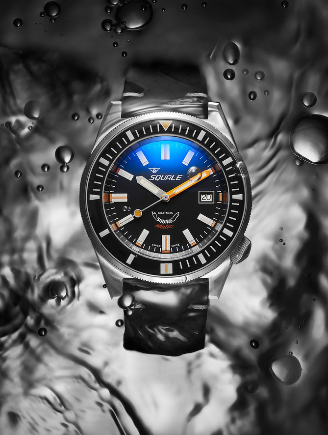 Squale watches underwater campaign