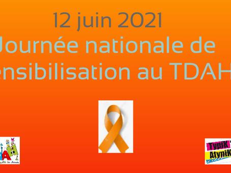 JOURNEE NATIONALE DE SENSIBILISATION AU TDAH LE 12/06/2021