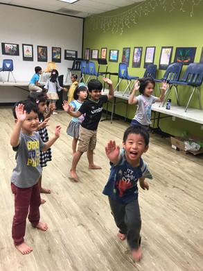 Line dancing for kinders