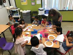 Working hard at TK classroom with Mrs Ju