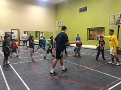 Indoors basketball camp