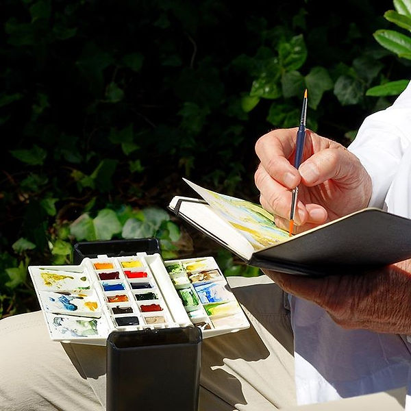 Portable Painter for hands-free watercol