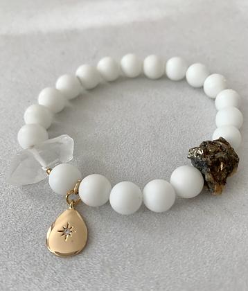 Sattva Bracelet with White Jade