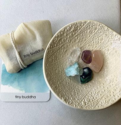 bliss + love healing stones by tiny buddha