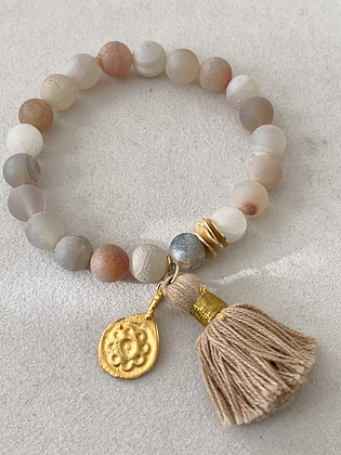 Sattva Bracelet with Frosted Chalcedony