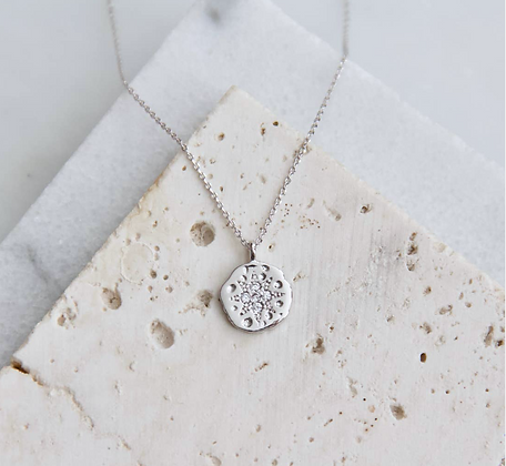 north star silver necklace