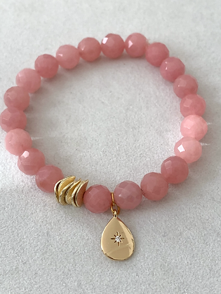 Sattva Bracelet with Pink Jade
