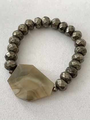 Sattva Bracelet with Pyrite