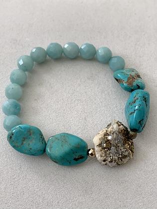 Sattva Bracelet with Turquoise