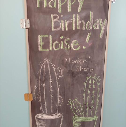 Cactus Themed Chalkboard