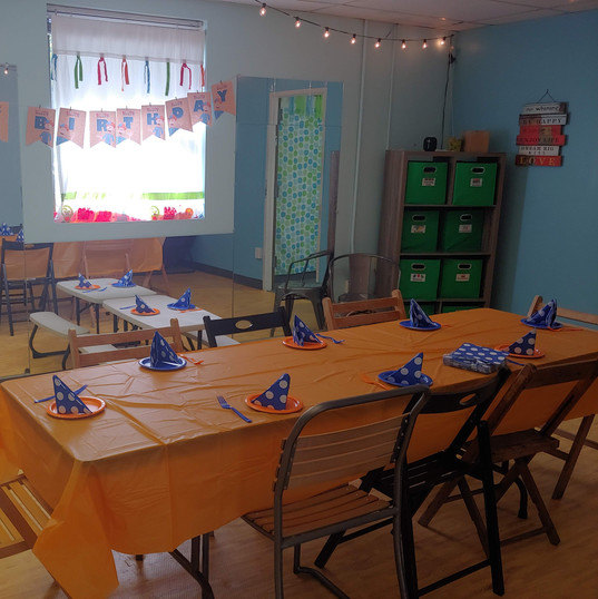 Blue and Orange Themed Party