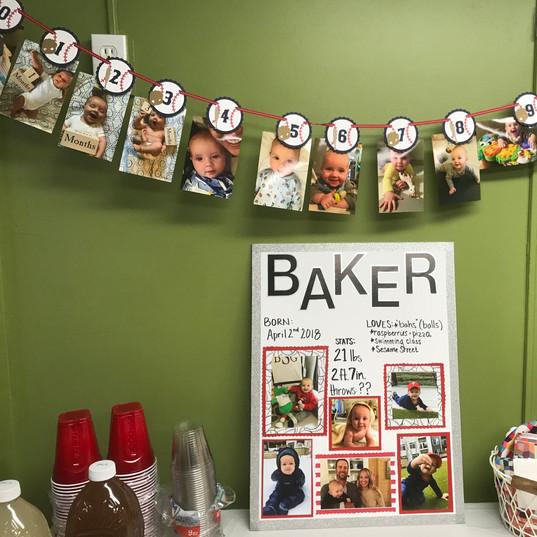 1 Year Birthday Display