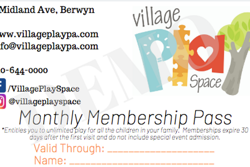Monthly Membership Pass