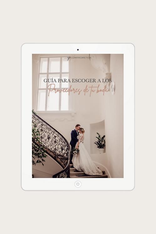 Guía para escoger a los proveedores de tu boda