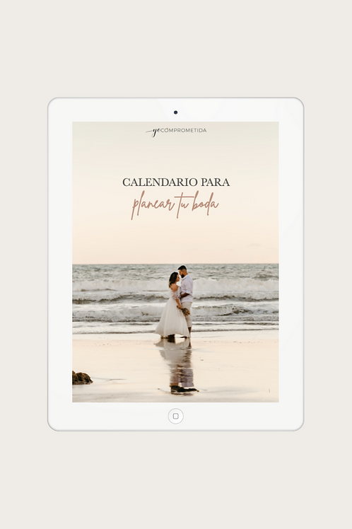 Calendario para planear tu boda