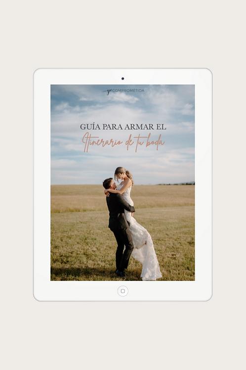 Guía para armar el itinerario de tu boda
