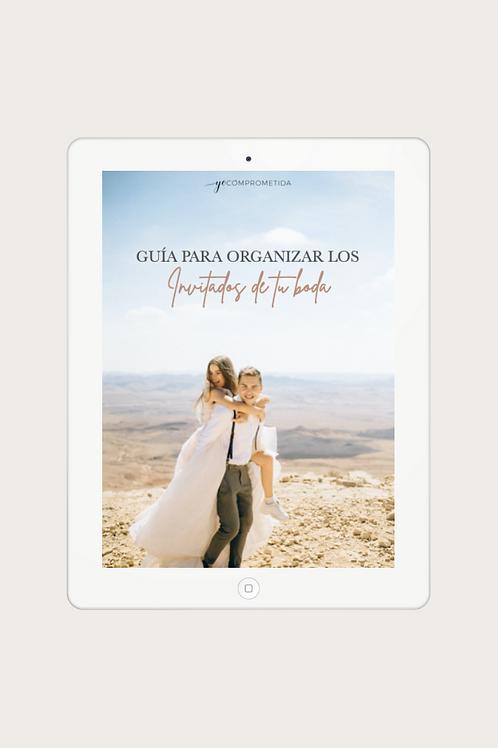 Guía para organizar los invitados de tu boda