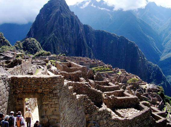 World renowned ruins of Manchu Picchu