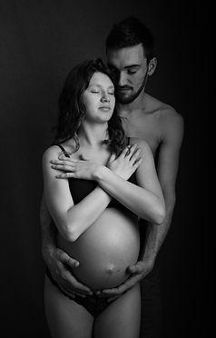 Seance photo maternité couple