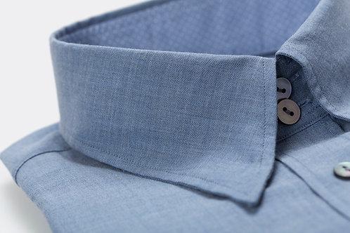 The Blue Slim-Fit Double Cuff Cotton-Poplin Shirt
