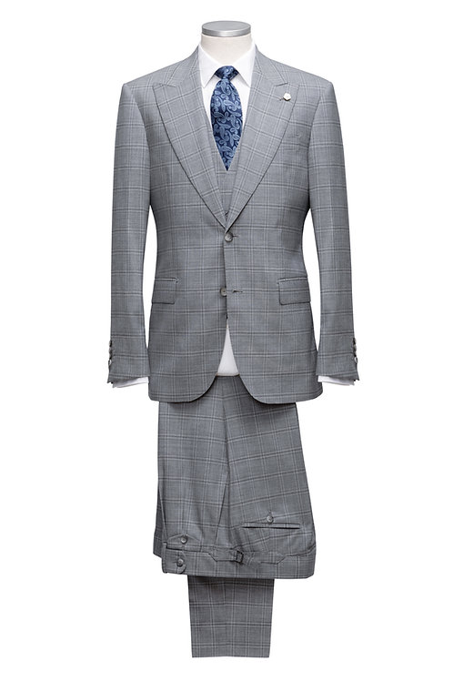 Single Breast, Wide Peak Lapel, Super 150's & Cashmere Loro Piana Suit