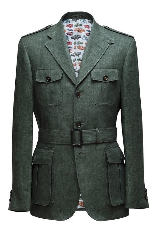 Military Green, Loro Piana Storm And Rain System ®️ Fabric, Safari Jacket