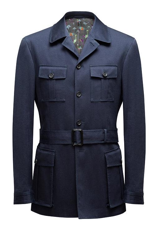 Navy Blue, Loro Piana Storm And Rain System ®️ Fabric, Safari Jacket