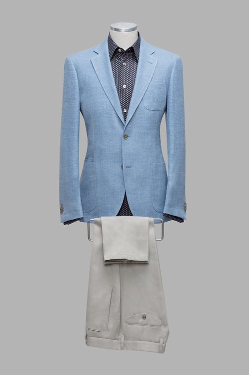 Sky Blue Loro Piana Fabric Wool & Silk Slim-Fit Jacket