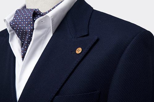 Navy Blue Loro Piana Double-Breast Wool Slim-Fit Jacket