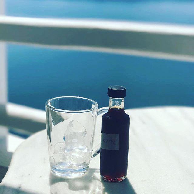 Santorini Day dreaming ☁☁☁__coffee_sydney#cafelife #coffeeculture #barista #coffeegreece #coffeesyd