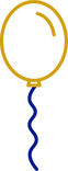 Gold Balloon Graphic