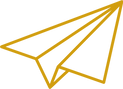 Gold Paper Airplane Graphic