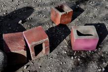 pink, red, blocks. estonia 2019