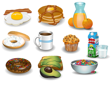 Breakfast Buffet Icons