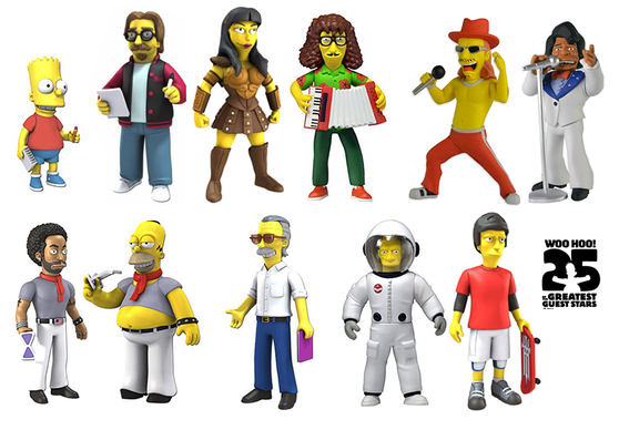 Simpsons 25th Anniversary Action Figures
