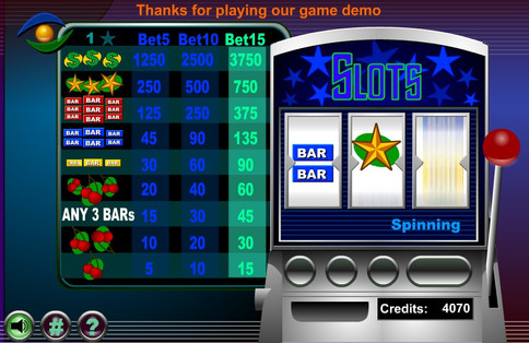 Online Slots Game Developed in Flash